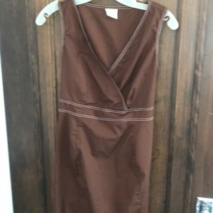 brown dress with tie back Maternity by motherhood